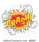 Vector Illustration of a Comic Styled Crash Explosion Burst by AtStockIllustration