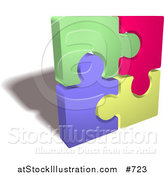 Vector Illustration of a Completed Colorful Jigsaw Puzzle by AtStockIllustration