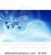Vector Illustration of a Corporate Global Business Background with a Map by AtStockIllustration