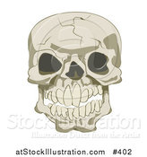 Vector Illustration of a Cracked Human Skull by AtStockIllustration