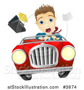 Vector Illustration of a Crazy Driver by AtStockIllustration