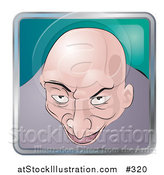 Vector Illustration of a Creepy Bald Man by AtStockIllustration