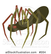 Vector Illustration of a Creepy Brown Spider by AtStockIllustration