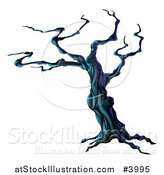 Vector Illustration of a Creepy Dead Halloween Tree by AtStockIllustration
