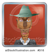 Vector Illustration of a Creepy Man with Twirling Eyes by AtStockIllustration