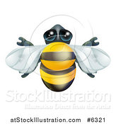 Vector Illustration of a Cute Bee from Above by AtStockIllustration