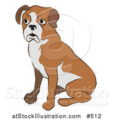 Vector Illustration of a Cute Boxer Dog Sitting by AtStockIllustration