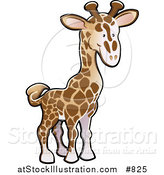 Vector Illustration of a Cute Brown and Tan Giraffe by AtStockIllustration