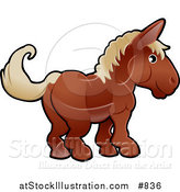 Vector Illustration of a Cute Brown Horse with Tan Hair by AtStockIllustration