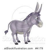 Vector Illustration of a Cute Donkey in Profile by AtStockIllustration