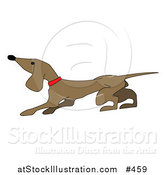 Vector Illustration of a Cute Little Dachshund Dog by AtStockIllustration