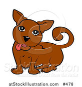 Vector Illustration of a Cute Little Dog Hanging His Tongue out by AtStockIllustration