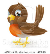Vector Illustration of a Cute Robin Bird by AtStockIllustration