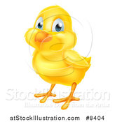 Vector Illustration of a Cute Yellow Easter Chick by AtStockIllustration