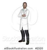Vector Illustration of a Doctor Standing with His Arms Crossed by AtStockIllustration
