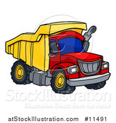 Vector Illustration of a Dumo Truck by AtStockIllustration