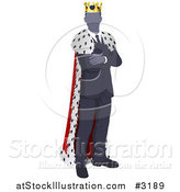 Vector Illustration of a Faceless Business King with Folded Arms by AtStockIllustration