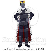 Vector Illustration of a Faceless Business King with Hands on His Hips by AtStockIllustration