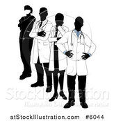 Vector Illustration of a Faceless Medical Team by AtStockIllustration