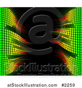 Vector Illustration of a Fading Equalizer Bars Framing Black by AtStockIllustration