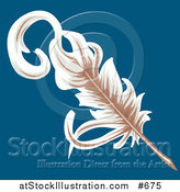 Vector Illustration of a Feather Plum Quill by AtStockIllustration