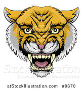 Vector Illustration of a Fierce Wildcat Mascot Head Roaring by AtStockIllustration