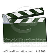 Vector Illustration of a Filming Clapper Board by AtStockIllustration