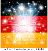 Vector Illustration of a Firework Burst over a German Flag by AtStockIllustration