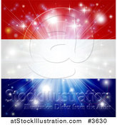 Vector Illustration of a Firework Burst over a Netherlands Flag by AtStockIllustration