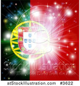 Vector Illustration of a Firework Burst over a Portugal Flag by AtStockIllustration