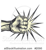 Vector Illustration of a Fist Making Impact by AtStockIllustration
