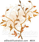 Vector Illustration of a Floral Grunge Background by AtStockIllustration