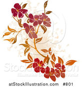 Vector Illustration of a Floral Grunge Background on White by AtStockIllustration