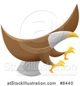 Vector Illustration of a Flying Bald Eagle with Extended Talons by AtStockIllustration