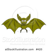 Vector Illustration of a Flying Vampire Bat by AtStockIllustration