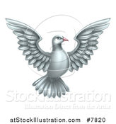 Vector Illustration of a Flying White Peace Dove by AtStockIllustration