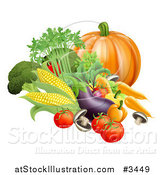 Vector Illustration of a Fresh Harvest Vegetables by AtStockIllustration