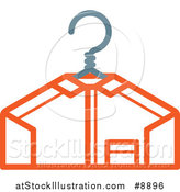 Vector Illustration of a Freshly Laundered Shirt on a Hanger by AtStockIllustration