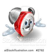 Vector Illustration of a Friendly Alarm Clock Character by AtStockIllustration