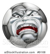 Vector Illustration of a Furious Soccer Ball Character Mascot by AtStockIllustration