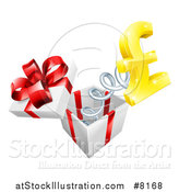 Vector Illustration of a Gift Box with a Lira Currency Symbol Springing out by AtStockIllustration
