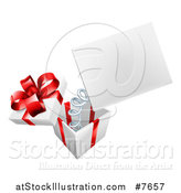Vector Illustration of a Gift Box with a Springy Sign by AtStockIllustration