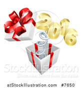 Vector Illustration of a Gift with a Springy New Year by AtStockIllustration