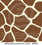 Vector Illustration of a Giraffe Animal Print Background with Brown and Tan Patterns by AtStockIllustration