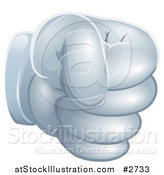 Vector Illustration of a Gloved Fist by AtStockIllustration
