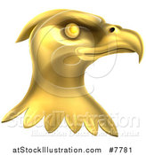 Vector Illustration of a Gold Bald Eagle Head by AtStockIllustration