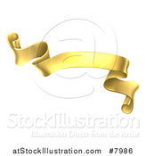 Vector Illustration of a Gold Scroll Ribbon Banner by AtStockIllustration