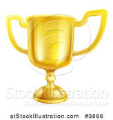 Vector Illustration of a Gold Trophy Cup by AtStockIllustration