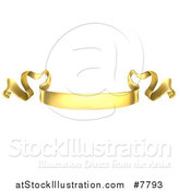 Vector Illustration of a Golden Scroll Ribbon Banner by AtStockIllustration