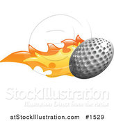Vector Illustration of a Golf Ball on Fire by AtStockIllustration